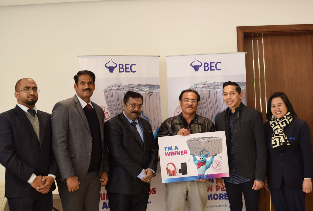 BEC Exchange Announced the Mega Prize Winner from the Philippines for BOBS Million Pesos Promotions