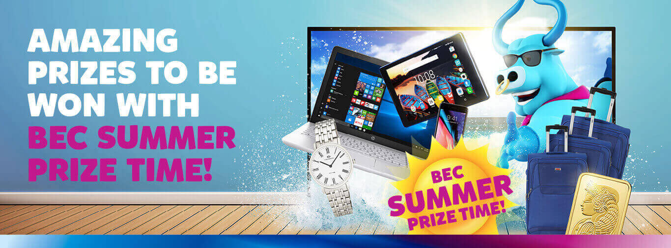 Amazing Prizes To Be Won With Bec Summer Prize Time