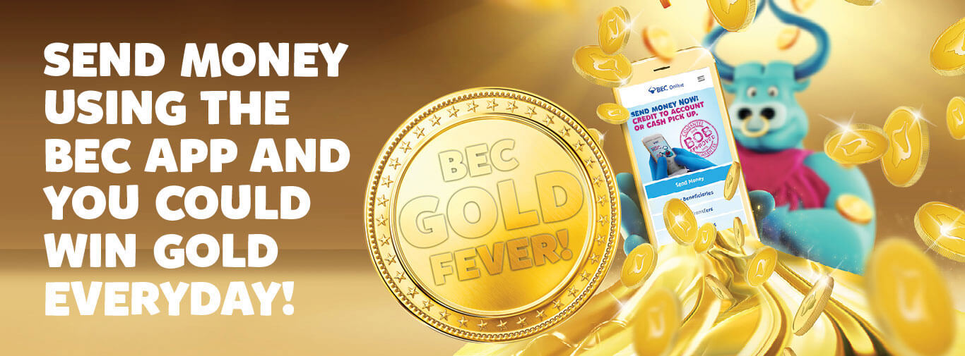 Send Money Using The Bec App And You Could Win Gold Everyday